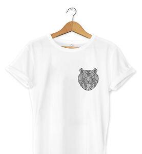 Graphic Print T Tiger Pocket Urban Hipster Design Art Mens Shirt Uq76Urf