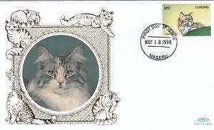 01714-Lesotho-Benham-FDC-Cats-18-May-1998