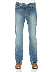Levi-039-s-Jeans-levis-Uomo-513-Slim-Straight-Stretch-regular-fit-dritto-denim-blu