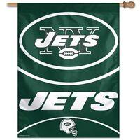 York Jets Wincraft Nfl 27x37 Banner/vertical Flag Free Ship, Brand
