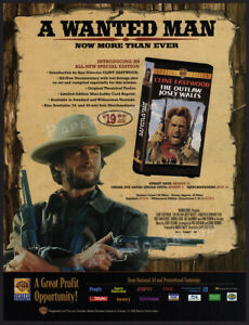 THE-OUTLAW-JOSEY-WALES-Orig-1999-Trade-Print-AD-ADVERTISEMENT-Clint-Eastwood