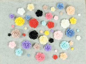 Resin-Roses-Flat-Back-6mm-10mm-15mm-20mm-Card-Making-Craft-Gel-Nail-Art-Make-Up