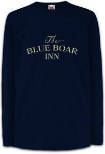 The-Blue-Boar-Inn-Kinder-Langarm-T-Shirt-Robin-Pub-Bar-Hood-Symbol-Sign-Logo