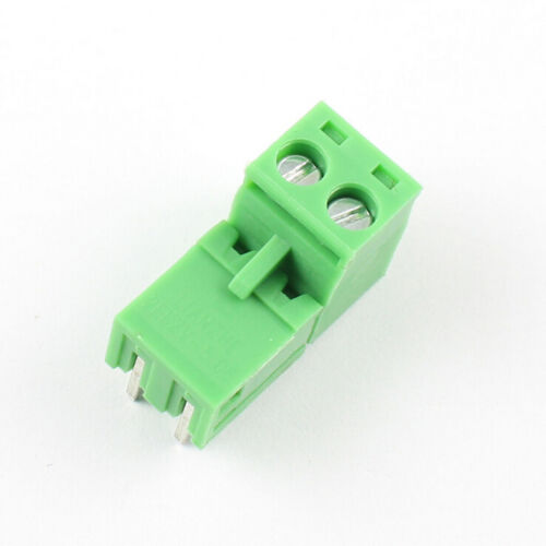 10pcs 2EDG 2Pin Plug-in Screw Terminal Block Connector 3.81mm Pitch  Angle HNIU