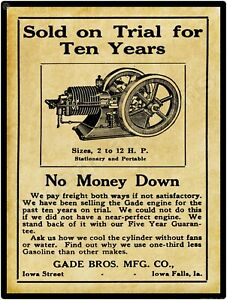 Johnsville 1911 Clark Machine Co Clark Gas Engines New Metal Sign St New York
