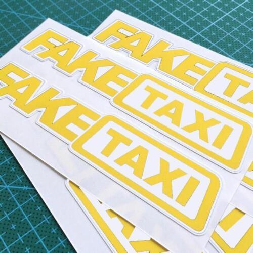3x Fake Taxi Sticker Vinyl Decal Car Turbo JDM Window Drift Funny Tuning Ye G0F0
