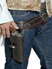 Smiffys Adult Unisex Western Belt and Holster Brown One Size 33097