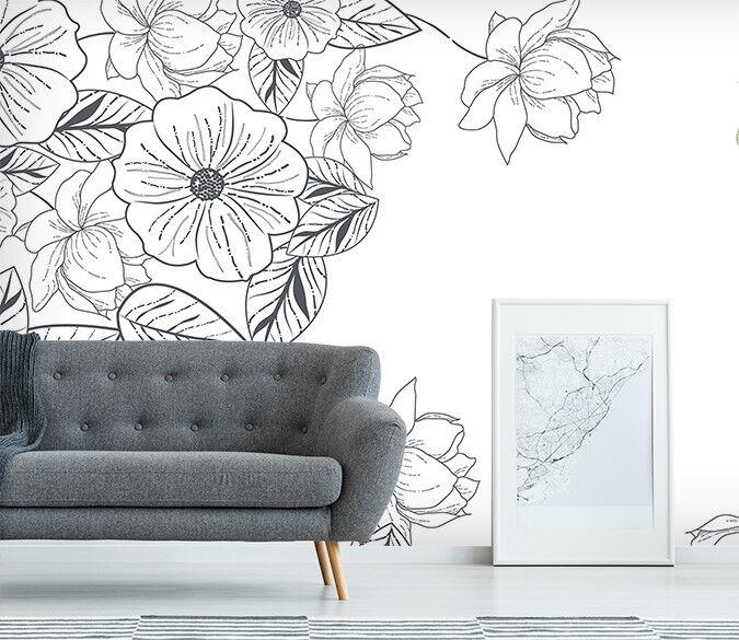 3D Weiß Flower 769 Wall Paper Murals Wall Print Wall Wallpaper Mural AU Summer