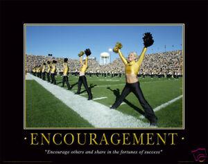 Cheerleader Motivational Poster Art Print Dance Team Iowa
