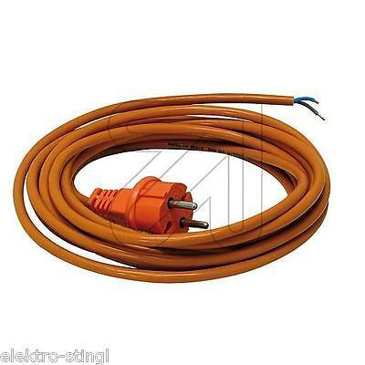 Anschlußkabel PUR orange H05BQ-F 2x1 mit Konturenstecker Anschlussleitung Kabel