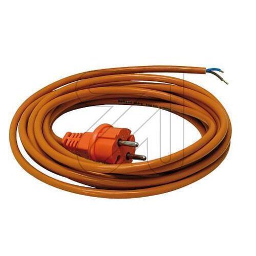 Anschlussleitung Kabel Anschlußkabel PUR orange H05BQ-F 2x1 mit Konturenstecker