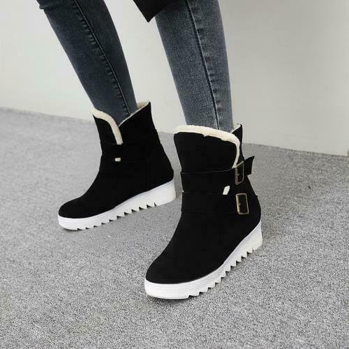 Details about  /Europe Women/'s Outdoor Thick Warm Lining Non-slip Heel Round Toe Ankle Boots D