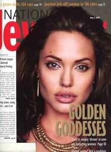 Angelina Jolie on Cover of National Jeweler Magazine 2007  Huge Magazine !