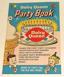 1960 dairy queen party book promo comic magazine holiday ice cream
