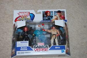 Ryu Capcom Infinite Black Widow vs Hasbro Marvel Gamerverse Marvel vs