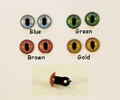 10pairs Sassy Bears 15mm RED Safety CAT Eyes for bears dolls and crafts