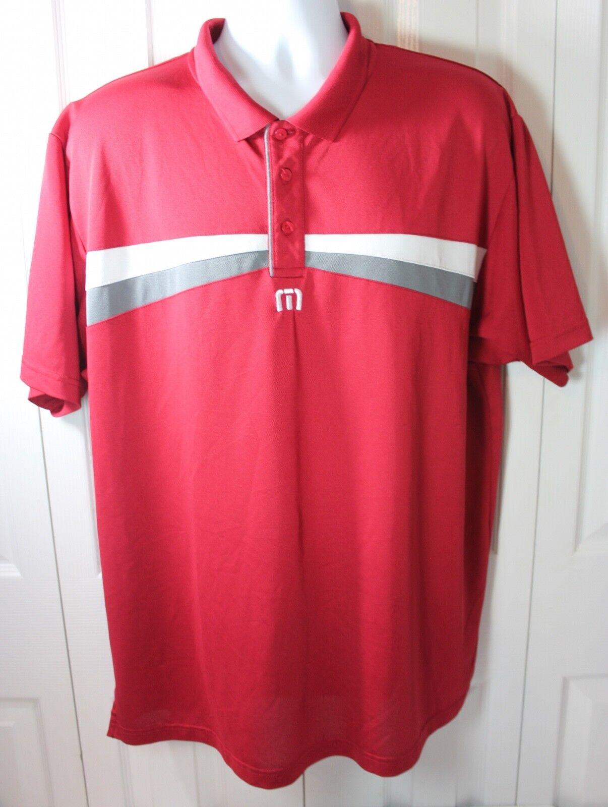 Travis Mathew Men's 2XL XXL Red Athletic Polo Shirt