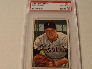 1952-BOWMAN-191-BOB-FRIEND-Pittsburgh-Pirates-PSA-4-5-VG-EX-Rare-Rookie-Card