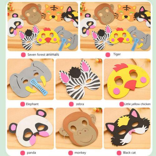 Creative Toy Children Party Halloween Kit 7 Type Animal EVA Foam Animal Masks