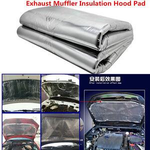 Heat-Shield-Mat-Car-Turbo-Exhaust-Muffler-Insulation-Hood-Fiberglass-Cotton-Pad