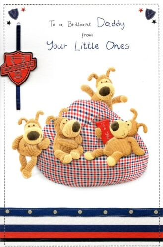 Daddy From Little Ones Boofle Happy Father/'s Day Card Cute Greetings Cards