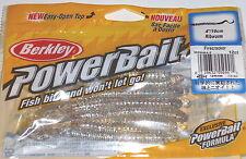 "berkley powerbait 4/"" ribworm 12 per pack oyster shell bass worm"
