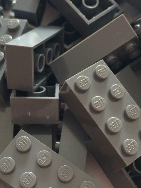Lego 3001 New 2x4 Dark Bluish Gray Bricks Blocks Buildings Wall Lot Of 25pcs