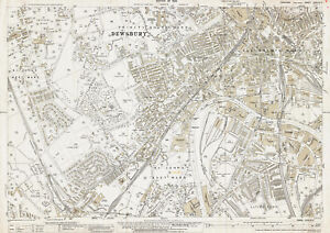 Dewsbury central old Yorkshire map 24731933 eBay