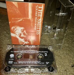 THE SMITHS CASSETTE TAPE LOUDER THAN BOMBS SIRE RECORDS ROUGH TRADE 1987 LOOK!