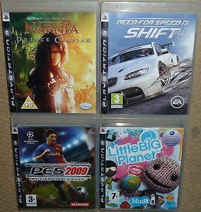 JOB LOT SONY PS3 BOX GAMES Need Speed Shift Little Big Planet Narnia Caspian PES