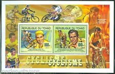 CHAD 2014  CYCLING EDDY MERCKS & FAUSTO COPPI  COLLECTIVE  SHEET OF TWO  MINT NH