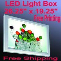 A2 Led Slim Aluminum Frame Light Box 26.5 X 19.5 Free Graphic Printing Backlit