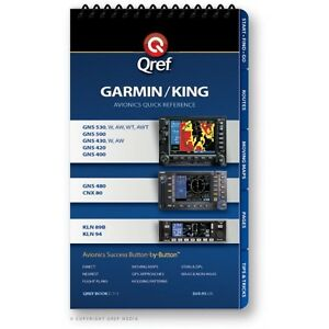 Garmin/King Combo 530/430/480/CN<wbr/>X 80 & KLN 94/89B Checklist Book by Qref