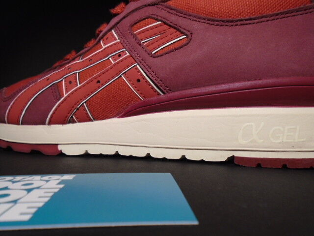 ASICS GT-II 2 GEL-LYTE III 3 HIGHS & LOWS LOWS LOWS HAL BRICK & MORTAR RED BURGUNDY NEW 10 db2a33