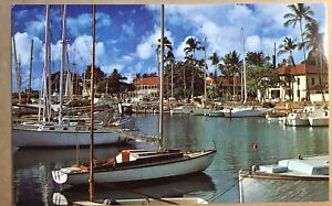 Lahaina Harbor Postcard Hawaiian Hawaii Hi Vintage Picture Card Souvenir