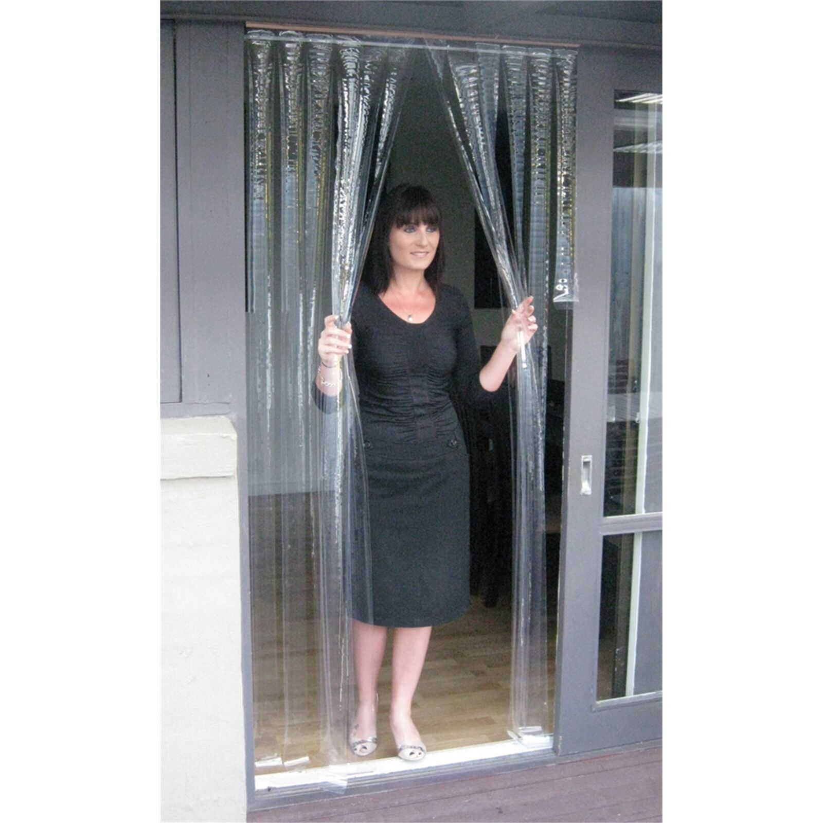 Zone Hardware PVC DOOR CURTAIN 900x2000mm CLEAR Australian Brand – 0.5mm Or 1mm