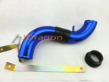 """58mm 2.25"""" Blue Aluminum Cold Air Intake Induction Pipe Piping Tube Universal"""