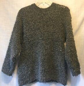 8badb4d774982 Wool Alpaca Pullover Mens Sweater Gray Loop Knit By Gleneden Made in ...