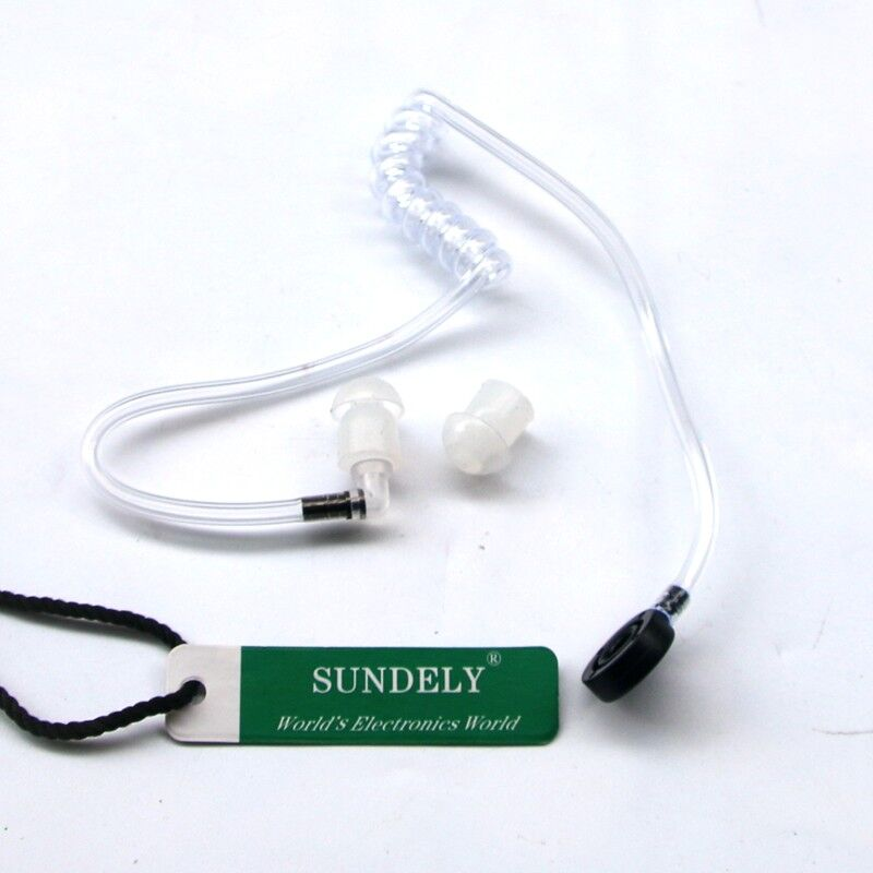 Stretch Extend Throat Mic Earpiece Headset Microphone For BAOFENG UV5R Plus USA