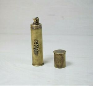 Vintage-Collectible-Handmade-Bullet-12-Caliber-Brass-KGB-Lighter-USSR-Russia