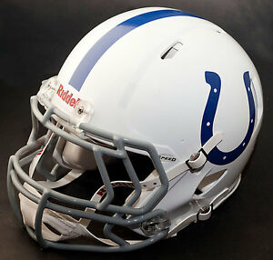 separation shoes fd0df 19d57 Details about INDIANAPOLIS COLTS NFL Authentic GAMEDAY Football Helmet w/  S2EG Facemask