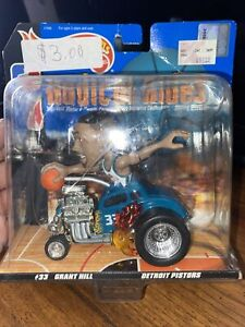 NRFB VINTAGE NBA GRANT HILL DETROIT PISTONS HOT WHEELS RADICAL RIDES HOT ROD ☆☆☆