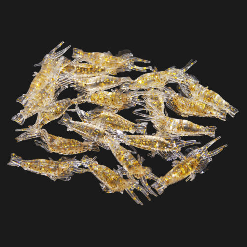 Lot Fishing Lures Soft Shrimp Lures Baits Simulation Prawn Saltwater Lures Mixed