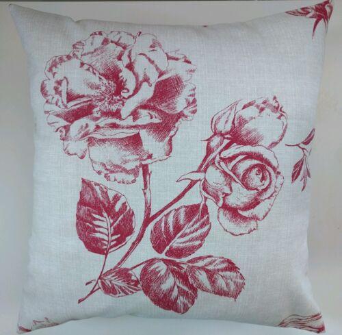 """Housse de coussin en prochain gravé rose rouge 16/"""" allumettes rideaux"""