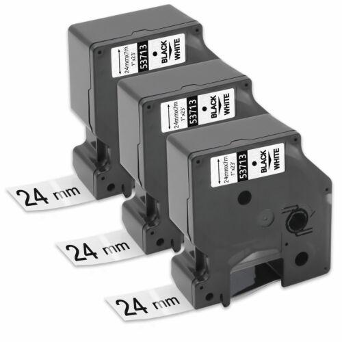 3x Kompatibel D1 Schriftband 8m//24mm äquivalent zu Dymo D1 S0720930 53713 LM350