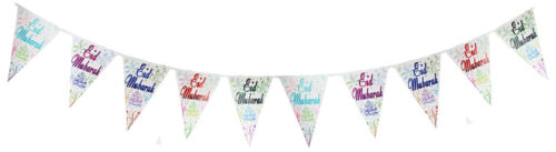 /& Banners 5 Sided Large Multi-coloured Gifts 10 PACK Eid Mubarak Balloons