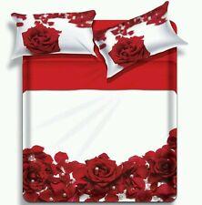 Lenzuola matrimoniale Rosa Rossa Camera da Letto Biancaluna Miss Terry Fleur