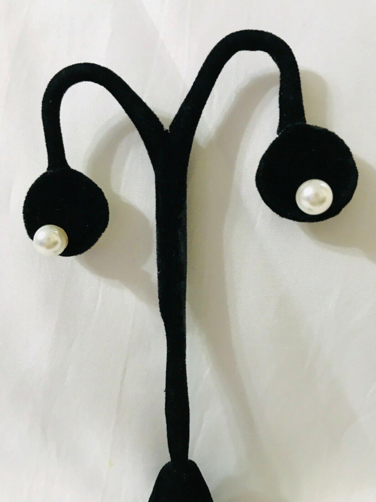MONET FAUX PEARL STUD EARRINGS - image 1