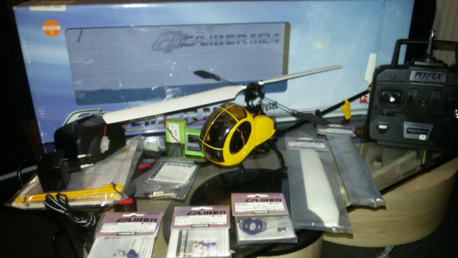 RC elicottero KYOSHO Caliber m24 con accessori e Tuningteilen