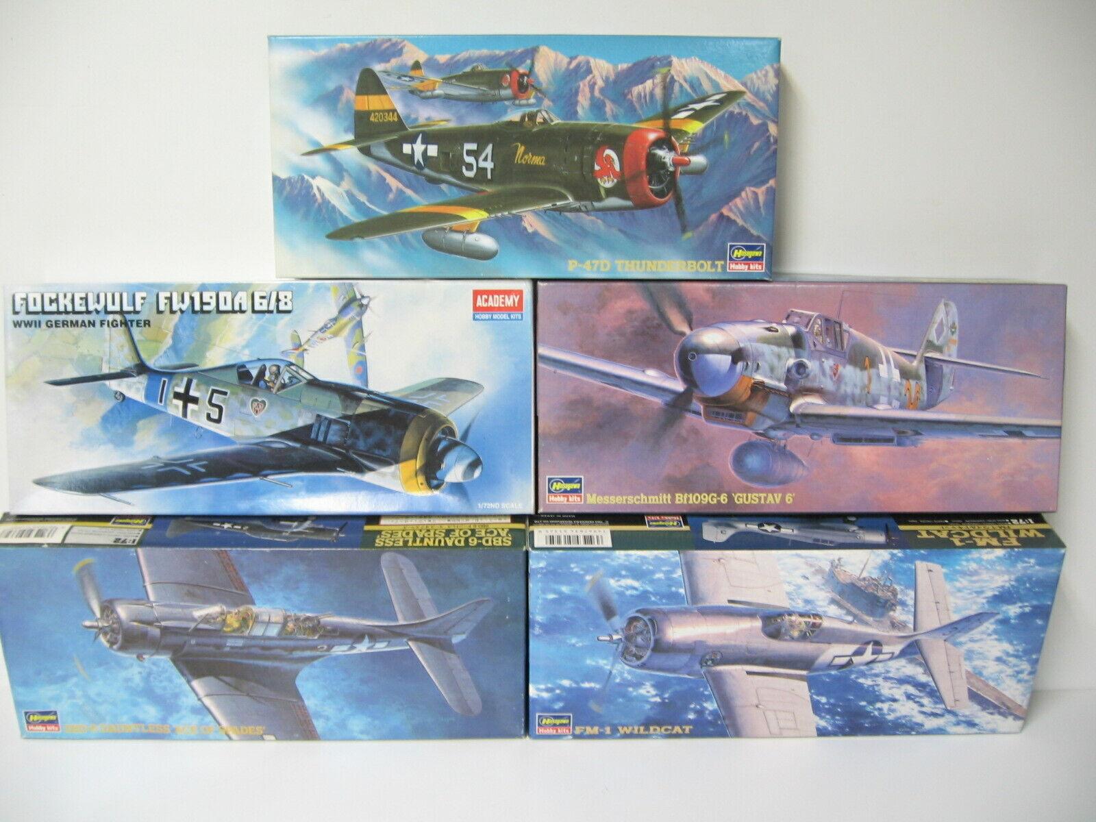Konvolut 1 72,P-47,SBD-6,FM-1,FW-190,BF109 Bausätze NEU in OVP